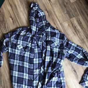 RVCA Hooded Flannel